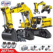 2071 pces cidade técnica de controle remoto escavadeira carro caminhão modelo bloco de construção rc engenharia veículo tijolo brinquedo para crianças