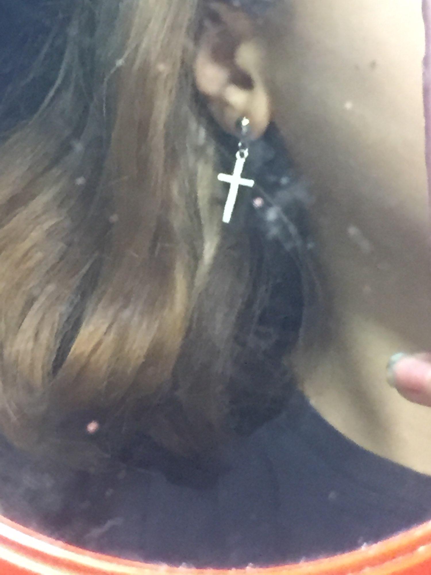 Cross pendant Earrings photo review