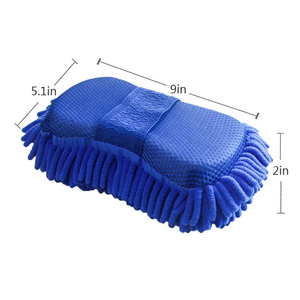 Image 2 - 2 szt. Gąbka do mycia samochodu z mikrofibry Ultra miękka, odporna na zarysowania Premium Chenille Wash Mitt Glove myjnia samochodowa akcesoria narzędziowe