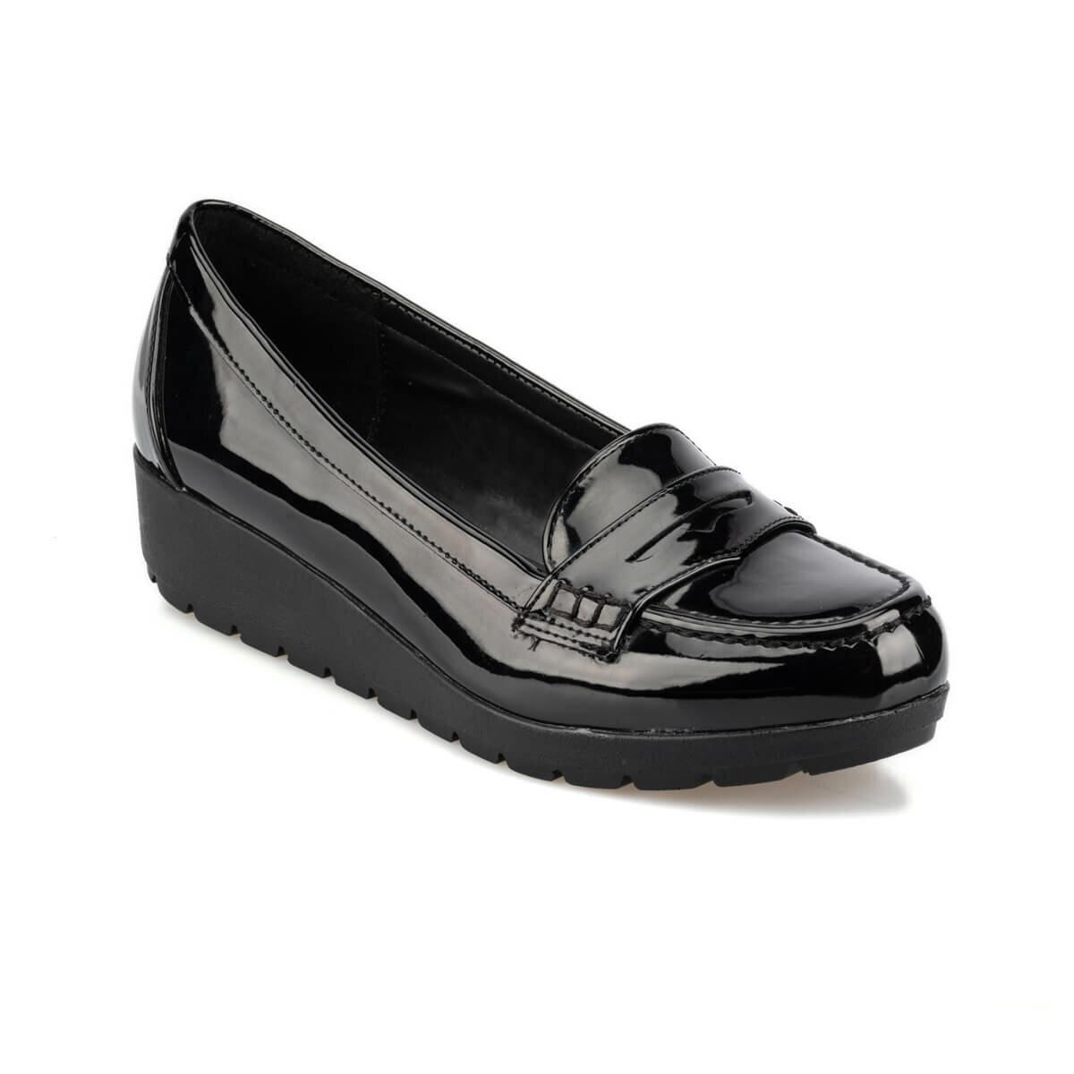 FLO 92.156027.Z Black Women Loafer Shoes Polaris