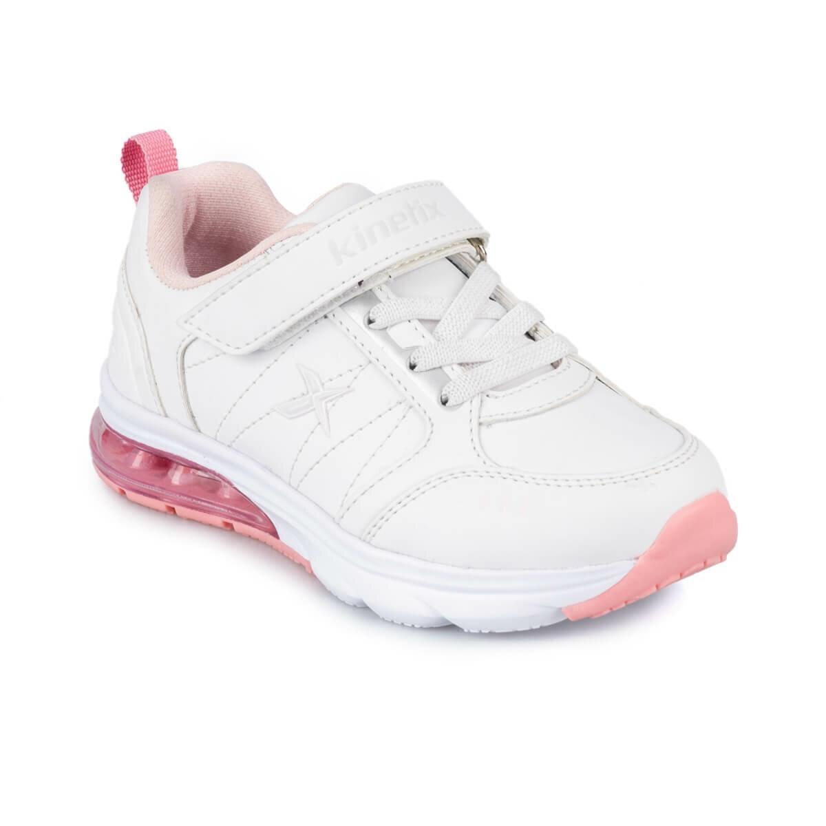FLO SPURSY 9PR White Female Child Running Shoes KINETIX