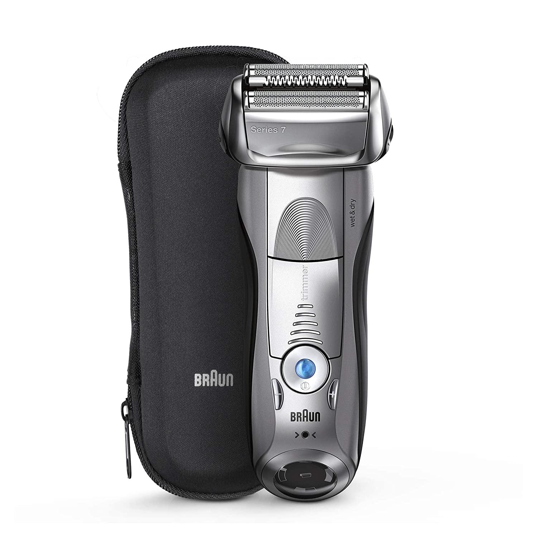 Зубных щеток Braun электрическая бритва для Для мужчин, серия 7 7893s электробритва с точный триммер, Перезаряжаемые, Wet & Dry & дорожная сумка чехол 2