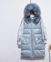 Newest Women down jacket Hooded Heavy hair collar Long Coat pleuche big pocket Zipper thick women cotton jacket