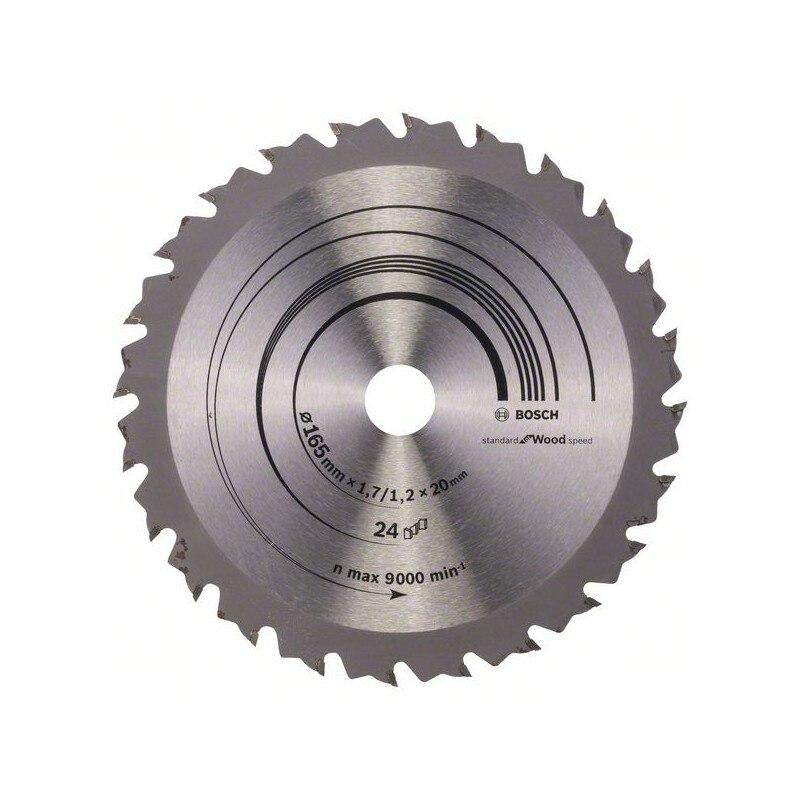 BOSCH-Hoja Circulate Saw Speedline Wood 165x20/16x1,7mm 24