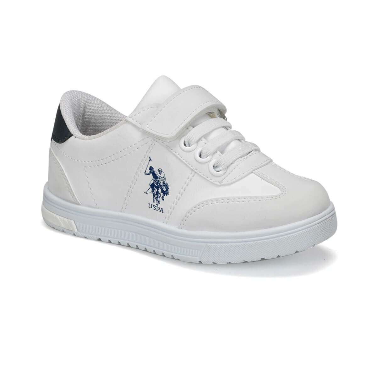 FLO GLOCK 9PR White Male Child Sneaker Shoes U.S. POLO ASSN.