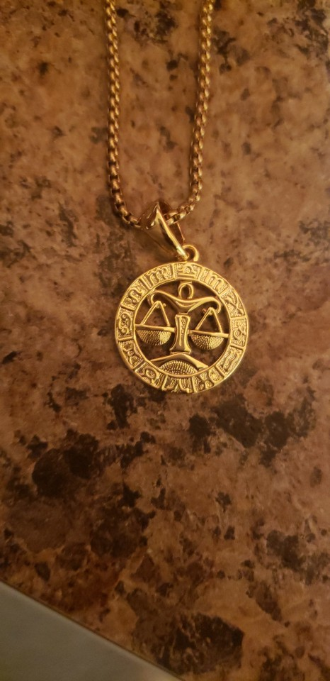 Zodiac Sign Gold Pendant Necklace photo review