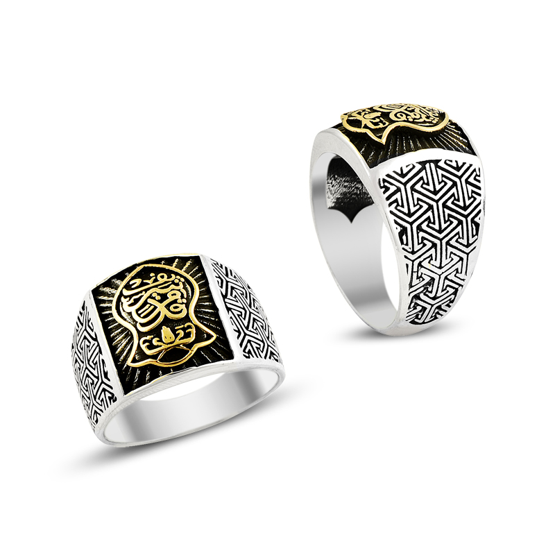 925 Silver Nalain Shareef Old Style Handmade Rings for Men Classsic Arabic Men Ring Fashion Jewelry Accessories Muslim Islam Man