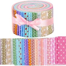 Dailylike 40 Pcs Jelly Roll Fabric, Roll Up Cotton Fabric Quilting Strips,  Patchwork Craft Cotton Quilting Fabric