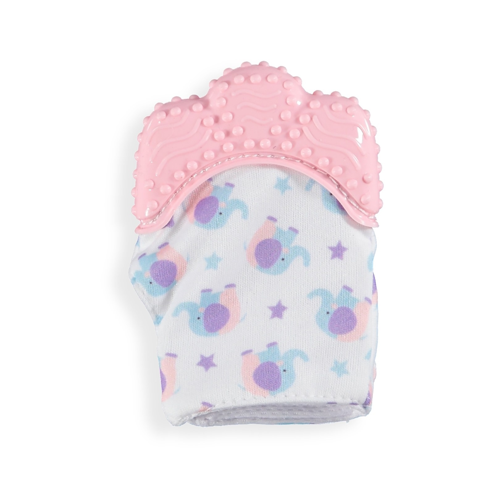 Ebebek Baby Toys Baby Teether Glove Pink