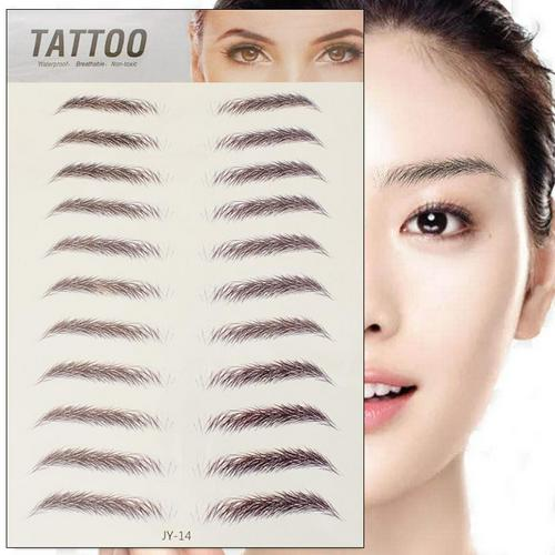6D Eyebrow Sticker Bionic Tattoo Semi-Permanent Water Transfer Waterproof Embroidery Eyebrow Tattoo Sticker Makeup Supplies 3