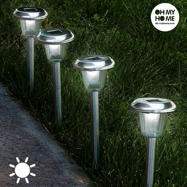 Oh My Home Torch Circular Solar Light (Pack Of 4)