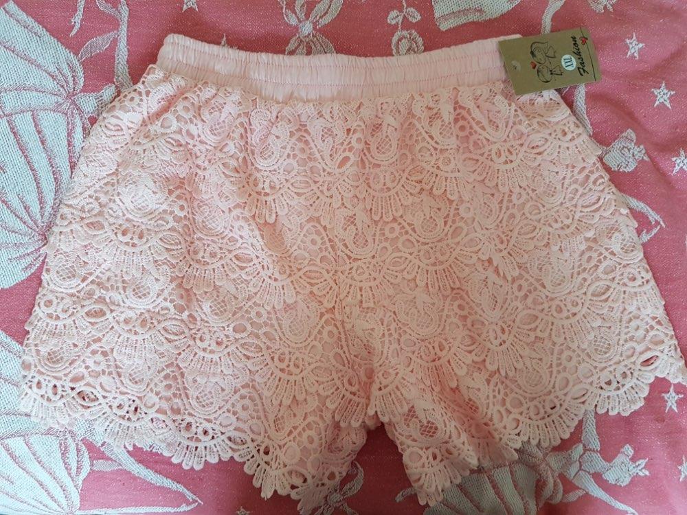 8 Colors Hollow Lace Shorts Women Hotpants Summer Black Shorts Feminino Women Short Beach Elastic High Waist Sexy Shorts photo review