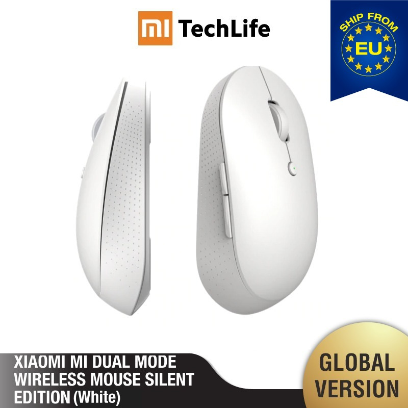 Mi Dual Mode Wireless Mouse Silent Edition (Black) Bluetooth 2.4 GHz Connect 1300 Dpi