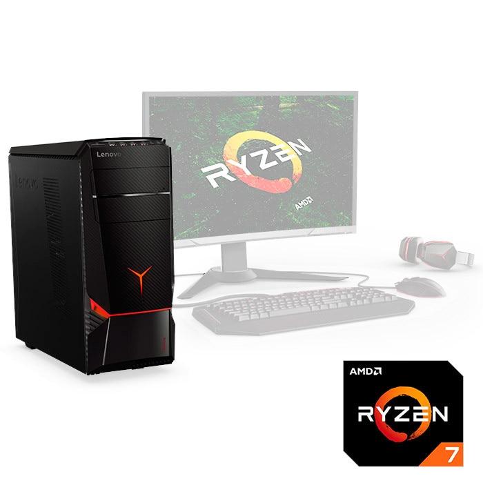 Computer Lenovo Y720t-34asu AMD Ryzen 7-1800x 16 GB 1 TB Nvidia Gtx-1060-6 GB W10 2años Warrenty.