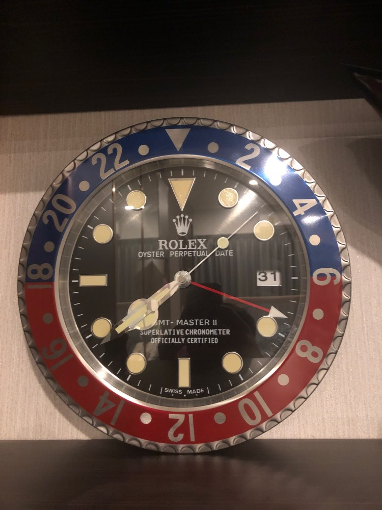 ROLEX WALL CLOCK - GMT MASTER II PEPSI STYLE RL11     ** FREE SHIPPING ** photo review