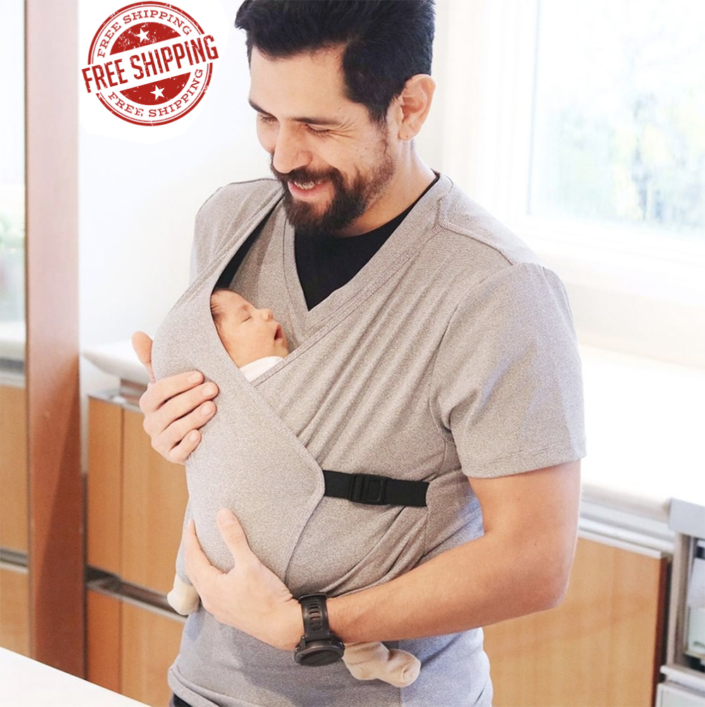 Men Cotton T-shirt daddy Kangaroo Parenting Tops Women Baby Carrier T Shirt Hands Free Baby Carrier Mom Baby T-shirt