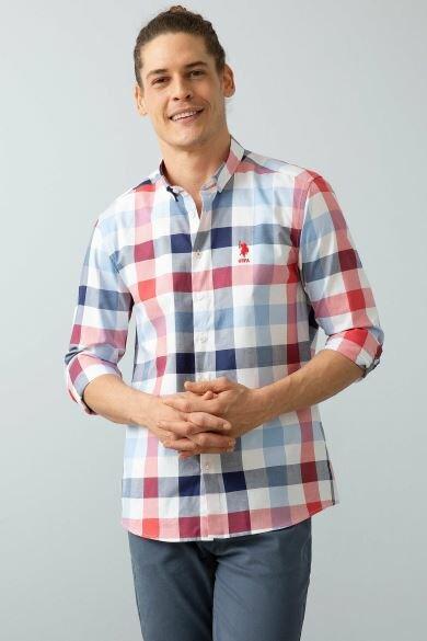 U.S. POLO ASSN. Men's Square Slim Shirt