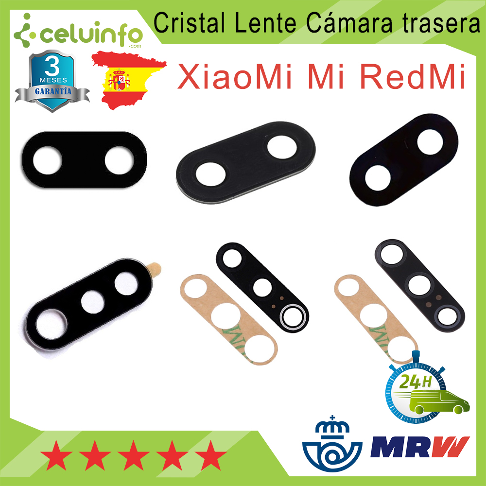 Tailgate Camera Lens Glass For Xiaomi Mi 5X/My 6X/My A2/My Play/My 8 Lite /My 8/My 9/My 9 BE Shipping From Spain