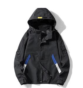 Image 2 - Nieuwe safari stijl jas mannen Herfst Hooded dunne windjack streetwear hip hop rits gele jassen corta vento A037 GSJK0046