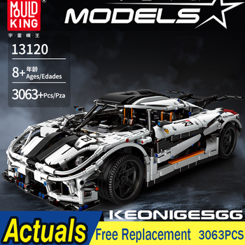 Technic Series 23002 MOC-10574 Koenigseggs Racer Vehicle Racing Car Model Kit 3136Pcs Building Blocks Bricks Kid Toy Gifts 93001 moc technic series fd35 rx7 remote control vehicle rc car redsuns model kit building blocks bricks c61023 for kids toys gifts