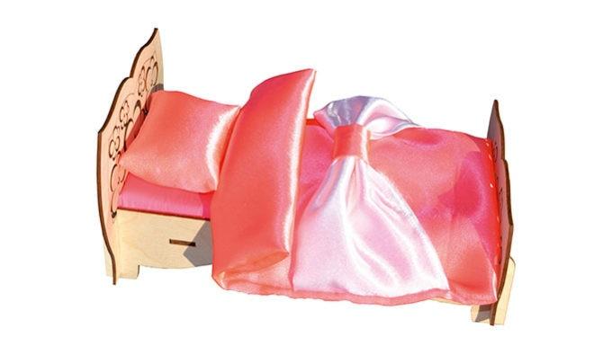 bed wth textile