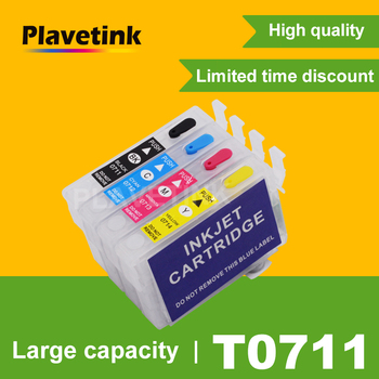 Plavetink T0715 Refill Ink Cartridge For Epson T0711 Stylus DX4000 DX4050 DX4400 DX4450 DX5000 DX5050 DX6000 DX6050 Printer фото