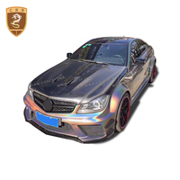 CSSCAR Carbon Bonnet Fit For 08 11 Mercedes Benz W204 C63 Sedan Coupe Series Hood Cover AMG Style Auto Accessories