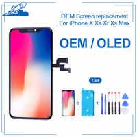 OEM Per il iPhone X XS XS MAX OLED LCD Touch Screen con 3D Touch OLED Display Digitalizzatore Assembly di Ricambio Vero tono Supportati