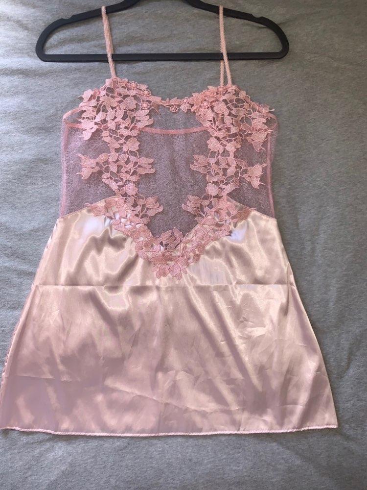 COLROVIE Without Panties Crochet Lace Applique Slips Night Dress Summer Spaghetti Strap Women Sleepwear New Sexy Nightgown|Nightgowns & Sleepshirts|   - AliExpress