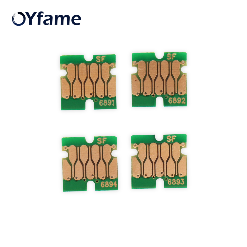 OYfame 1Set New Upgrade T6891 T6892 T6893 T6894 Cartridge Chip For <font><b>Epson</b></font> SureColor <font><b>S30670</b></font> S50670 Printer 4 Colors image
