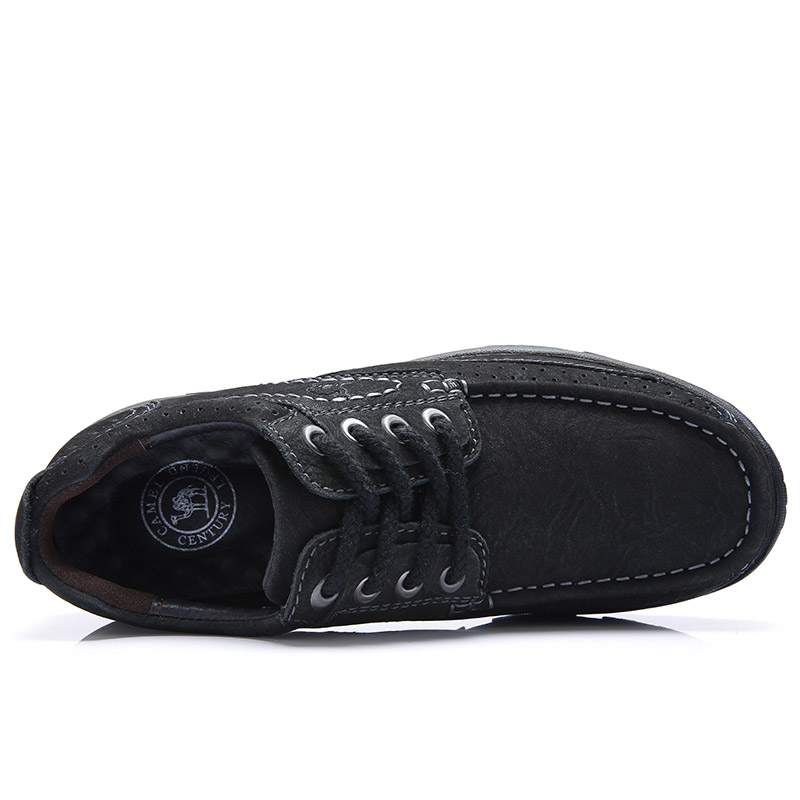 Image 3 - CAMEL Mens Shoes Genuine Leather Men Work Big Casual Shoes Wear  Waterproof Lightweight Tendon Matte Cowhide Men FootwearMens Casual  Shoes