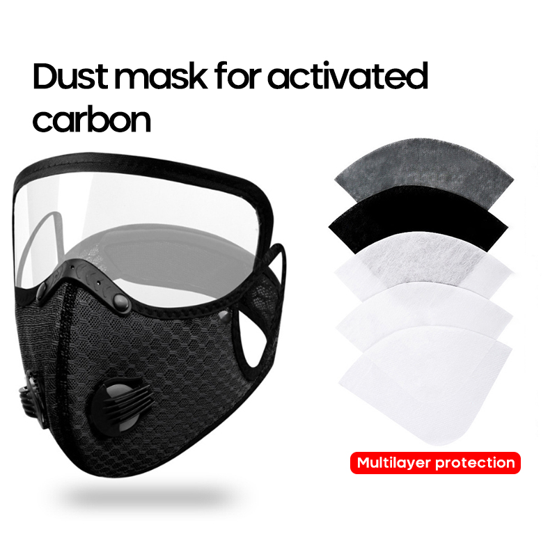1PC Riding Mask With Eye Mask Kn95 Activate Carbon Filter Anti Dust Bacteria Face Shield For Adults Breathable Cycling Face Mask 2