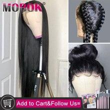 Парики из натуральных волос на кружевной основе с предварительно выщипанными волосами с детскими волосами Remy, бразильские прямые волосы, парики из натуральных волос