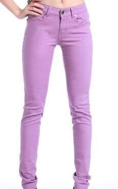 LIS05874 Trousers Women Casual Pencil Women M002 Pants Slim Stretch White Jeans