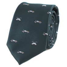 Necktie Theme-Time-Machine Delorean-Model Future Birthday-Tie Car-Pattern Father's-Day