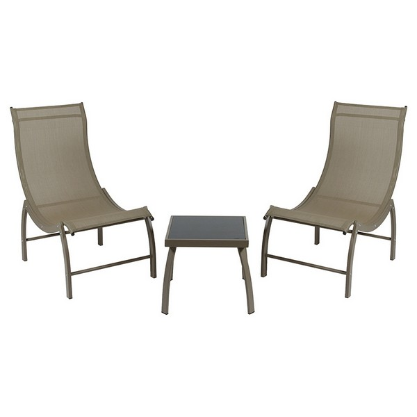 Garden Furniture (3 Pcs) Aluminium