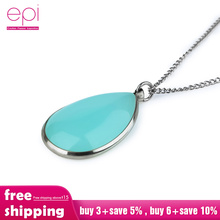 цена на Birthstone choker Necklace Natural Water Drop Pendant Quartz Gem Stone Crystal Charm Zircon Necklace for Women Fashion Jewelry
