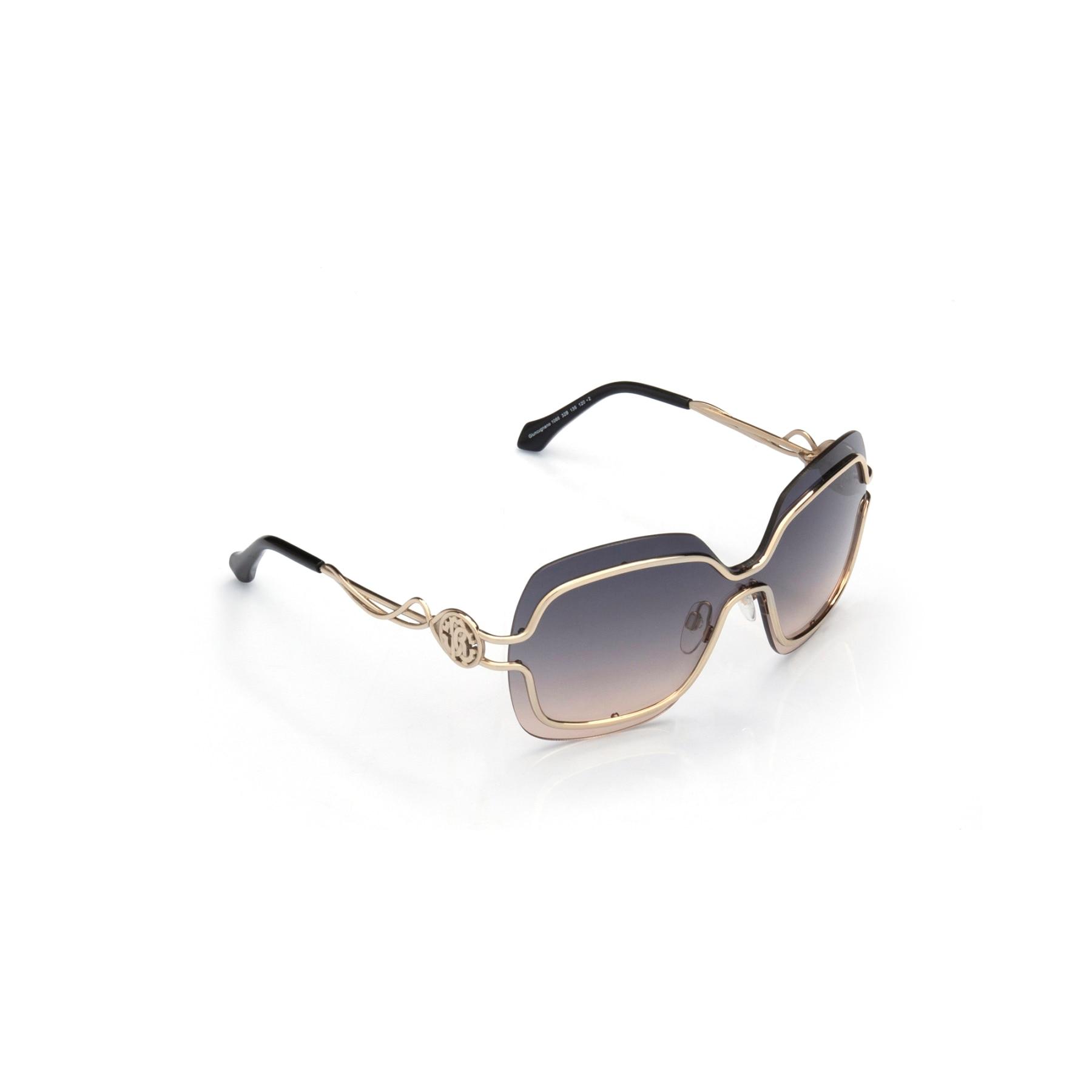 Women's sunglasses rc 1066 32b metal gold polycarbonate rectangular rectangle 60-16-120 roberto cavalli