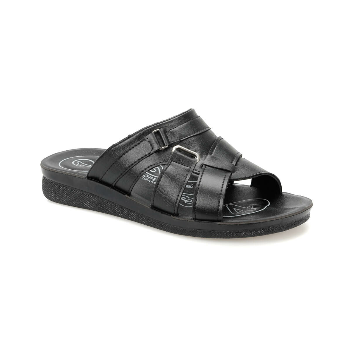 FLO PLK-14 Black Male Slippers Flexall