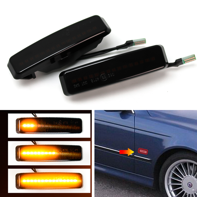 Led Dynamic Turn Signal Light Side Marker Fender Sequential Lamp Blinker Indicator Trim Cover For BMW 5 Series E39 1995-2003 M5