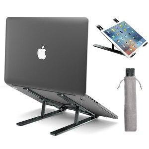 Image 5 - LINGCHEN support dordinateur portable pour MacBook Air Pro ordinateur portable support de support dordinateur portable pliable en alliage daluminium support dordinateur portable pour ordinateur portable