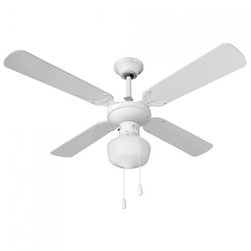 Ventilatore a soffitto con la luce 4 lame 50W 3 velocità di 7hSevenOn Deco