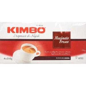 Kimbo coffee ground-freshly ground (4 packs of 250g)