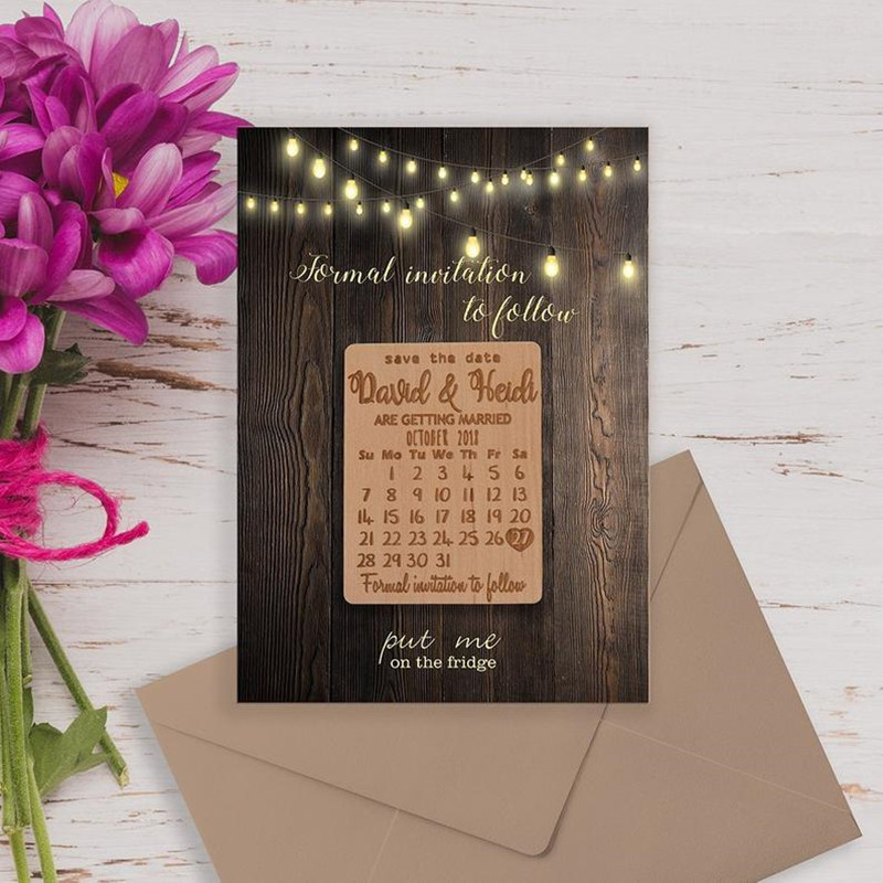 Personalized Calendar Wooden Magnet ,Wedding Save the Date,Bridesmaids Gift Ideas, Save the Dates Wedding Favors invitation tag image