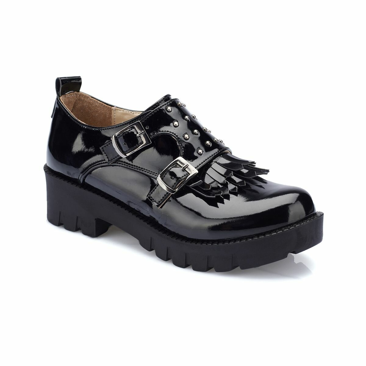 FLO 82.510948.F Black Female Child Shoes Polaris