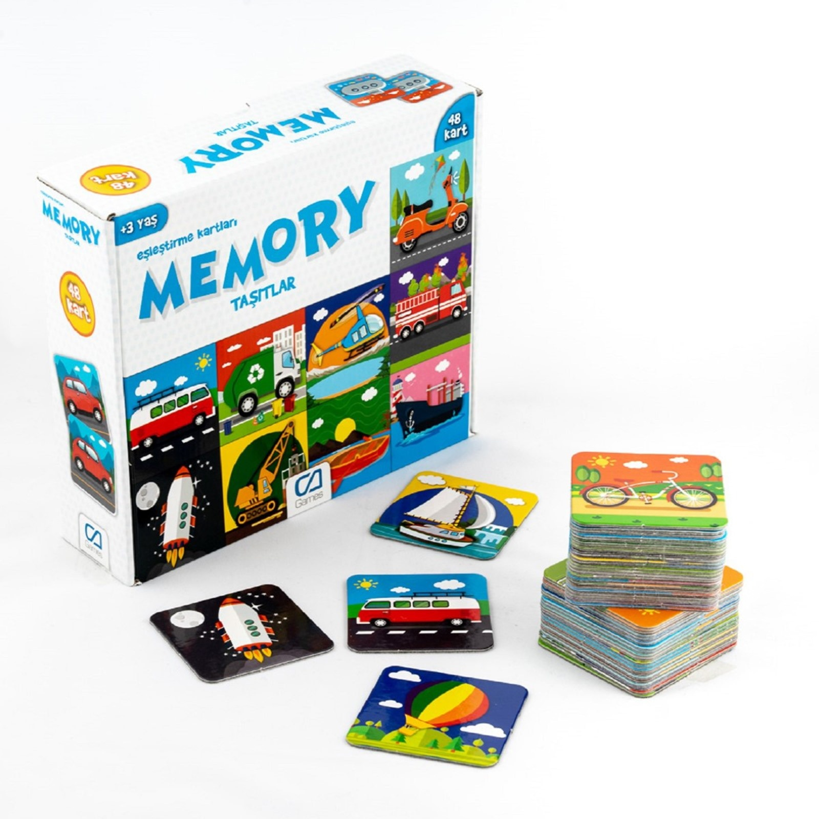 Ebebek Ca Games Memory Vehicles 48 Card 3 Years+