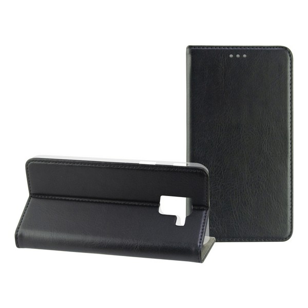 Mobile Cover Case Samsung Galaxy S9 Plus Slim Black Textile Polycarbonate|  - title=