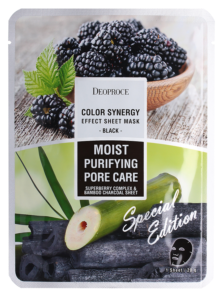 DEOPROCE COLOR SYNERGY EFFECT SHEET MASK BLACK