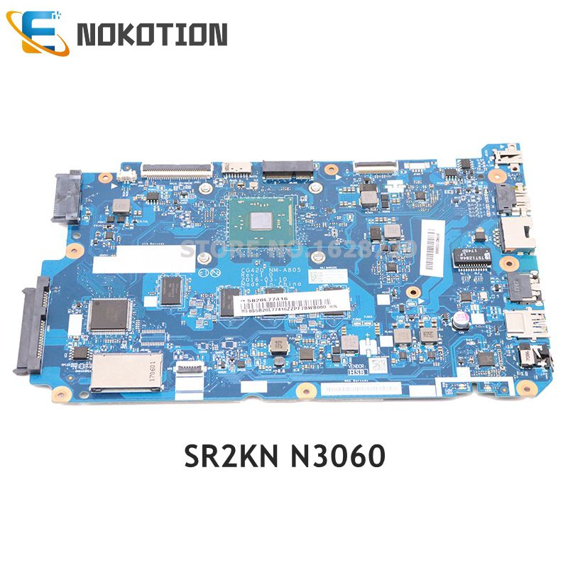 NOKOTION For <font><b>Lenovo</b></font> <font><b>IdeaPad</b></font> <font><b>110</b></font>-15IBR Laptop <font><b>Motherboard</b></font> SR2KN N3060 CPU 5B20L77416 CG420 NM-A805 MAIN BOARD image