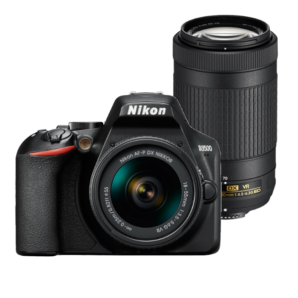 Nikon D5600 DSLR cámara y AF-P 18-55mm y AF-P 70-300mm VR de doble lente Kit